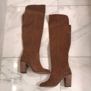 Dolce Vita Sz 7.5 Saddle Suede Over The Knee Boot